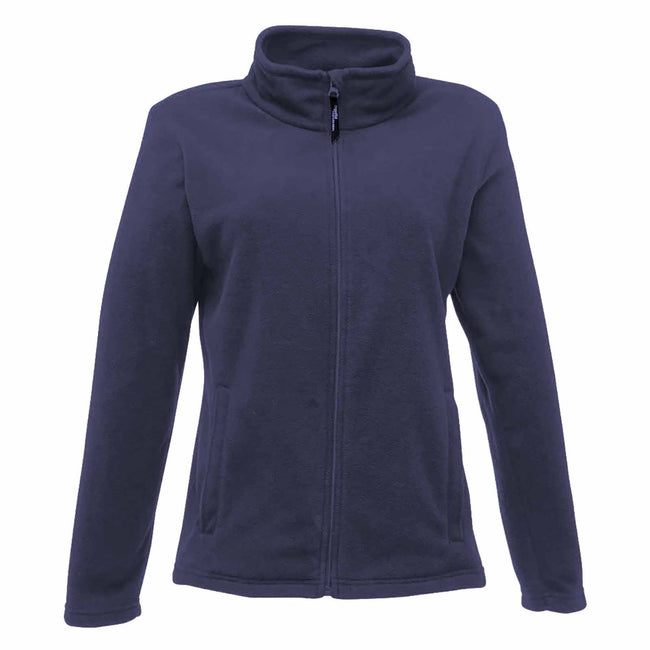 Dark Navy - Front - Regatta Womens-Ladies Full-Zip 210 Series Microfleece Jacket