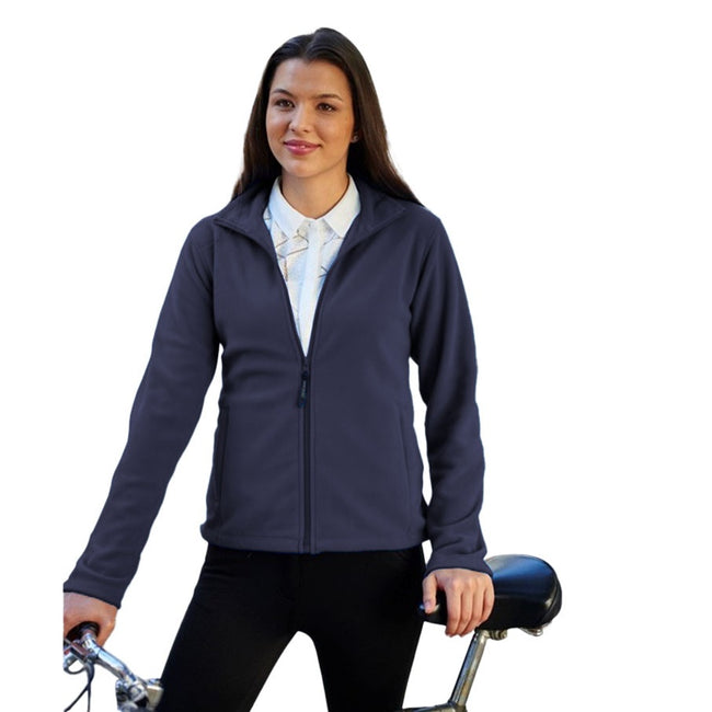Oxford Blue - Front - Regatta Womens-Ladies Full-Zip 210 Series Microfleece Jacket
