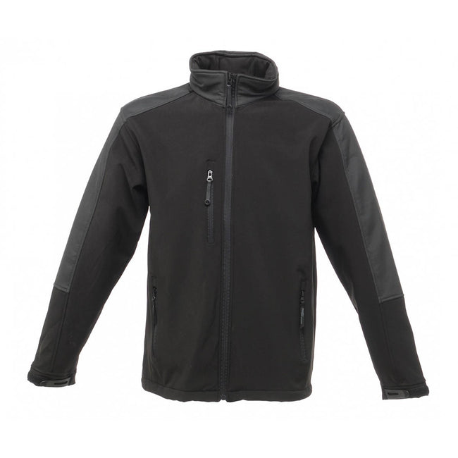 Navy-Blue - Front - Regatta Mens Hydroforce 3-layer Membrane Waterproof Breathable Softshell Jacket