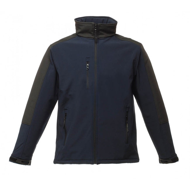 Oxford Blue - Front - Regatta Mens Hydroforce 3-layer Membrane Waterproof Breathable Softshell Jacket