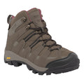 Walnut-Deco Rose - Front - Regatta Great Outdoors Womens-Ladies Lady Burrell Lace Up Hiking Boot