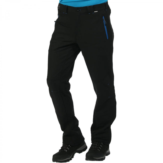 Black - Front - Regatta Great Outdoors Mens Questra Windproof Trousers-Pants