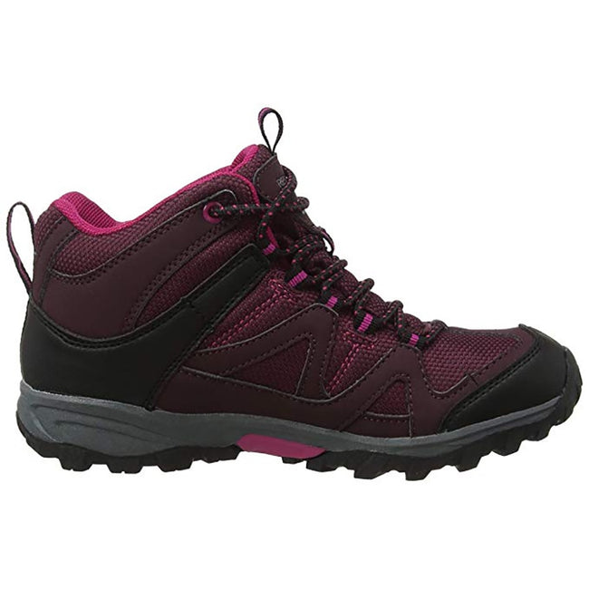 Purple-Fig Vivacious - Front - Regatta Great Outdoors Childrens-Kids Gatlin Mid Cut Walking Boots