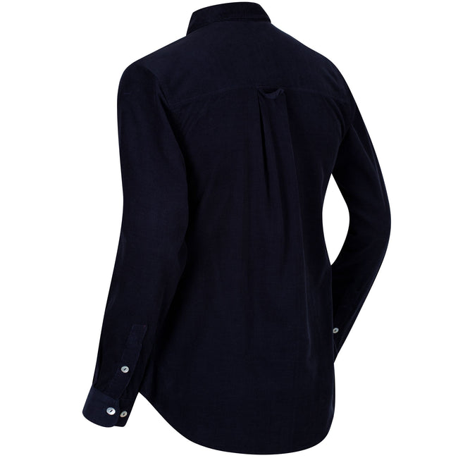 Navy - Back - Regatta Great Outdoors Womens-Ladies Maliyah Coolweave Cotton Cord Shirt