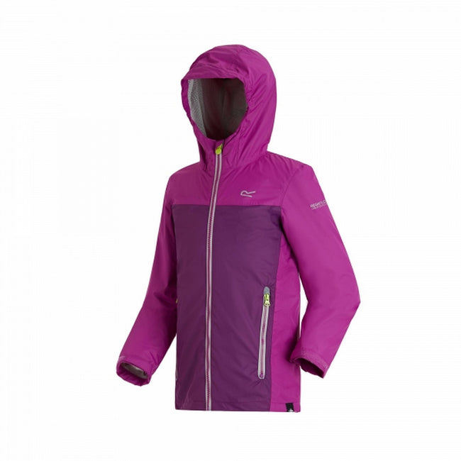 Camelia-Winberry - Front - Regatta Great Outdoors Childrens-Kids Allcrest III Waterproof Hooded Jacket