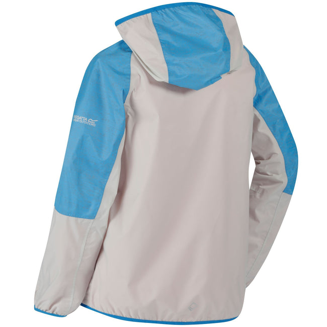 Platinum-Pluto - Lifestyle - Regatta Great Outdoors Childrens-Kids Teega Reflective Waterproof Hooded Jacket