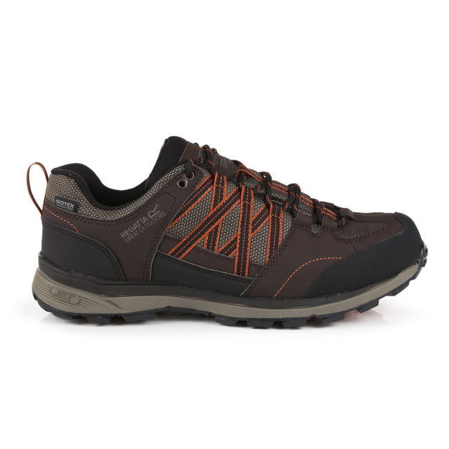 Peat-Burnt Umber - Back - Regatta Mens Samaris Low II Hiking Boots