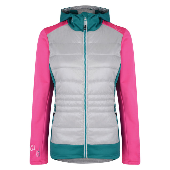 Cyber Pink-Shore - Front - Dare2B Womens-Ladies Inset Hybrid Jacket