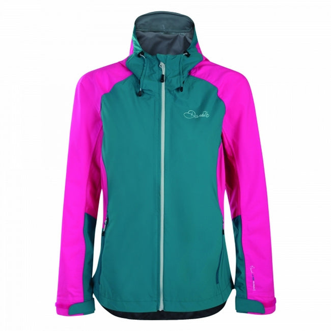 Shoreline Blue-Cyber Pink - Front - Dare2B Womens-Ladies Recourse II Jacket