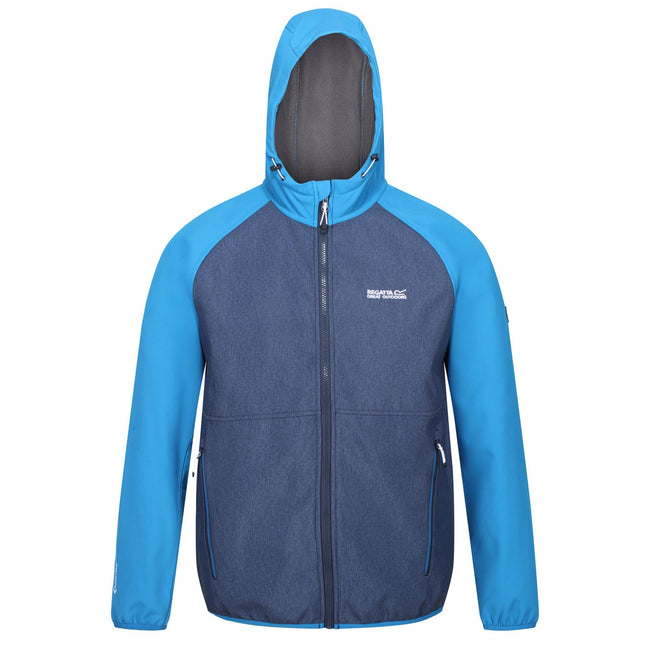 Imperial Blue-Nightfall Navy - Front - Regatta Mens Arec II Hooded Jacket
