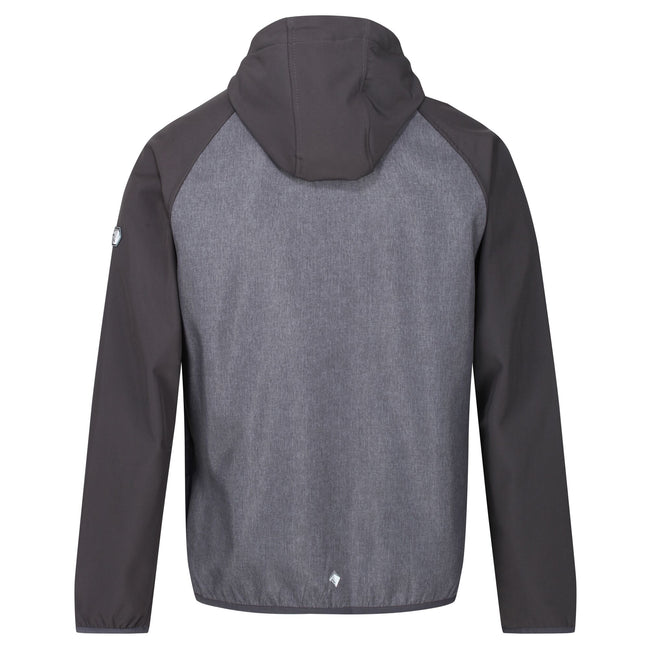 Ash Grey - Back - Regatta Mens Arec II Hooded Jacket
