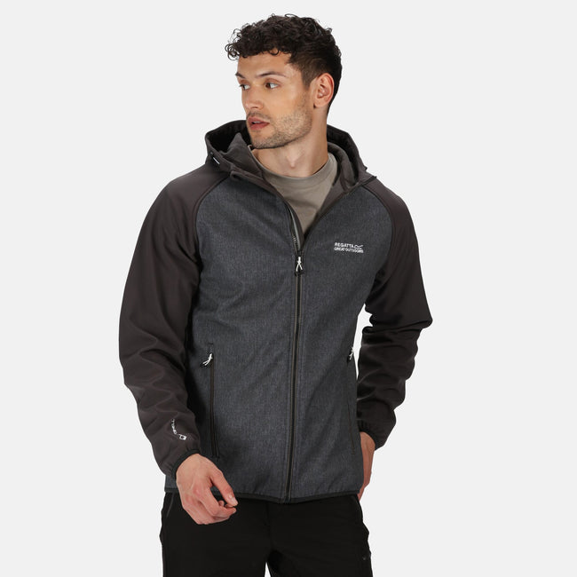 Ash Grey - Side - Regatta Mens Arec II Hooded Jacket