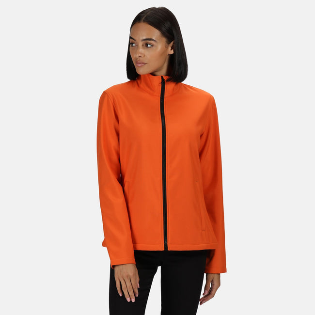 Black-Classic Red - Front - Regatta Womens-Ladies Ablaze Printable Softshell Jacket