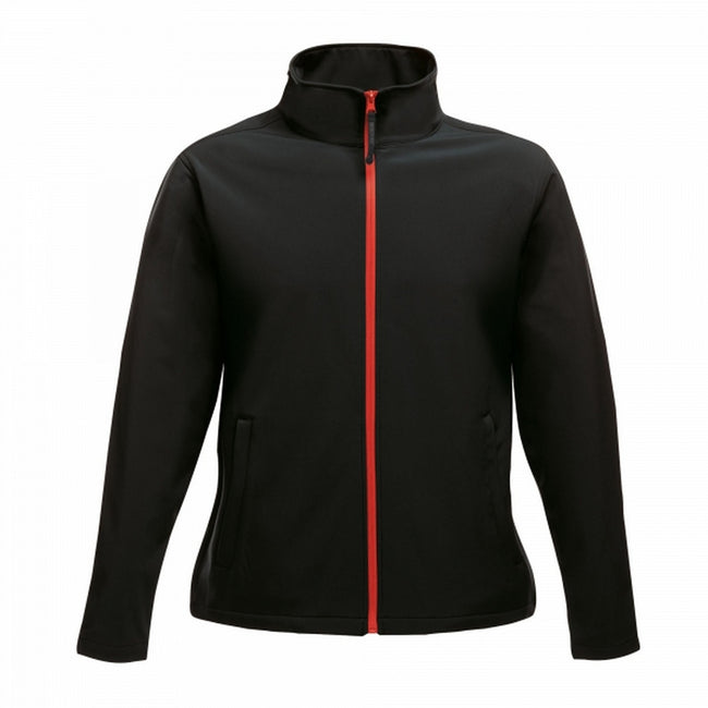 Navy Blue-French Blue - Front - Regatta Womens-Ladies Ablaze Printable Softshell Jacket