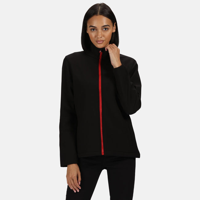 Seal Grey-Black - Front - Regatta Womens-Ladies Ablaze Printable Softshell Jacket