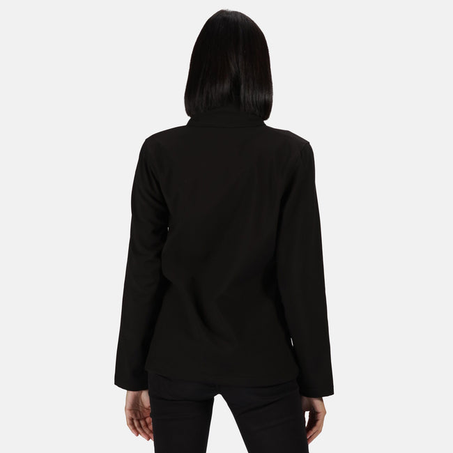 White-Light Steel - Front - Regatta Womens-Ladies Ablaze Printable Softshell Jacket