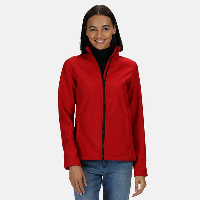 Black-Black - Front - Regatta Womens-Ladies Ablaze Printable Softshell Jacket