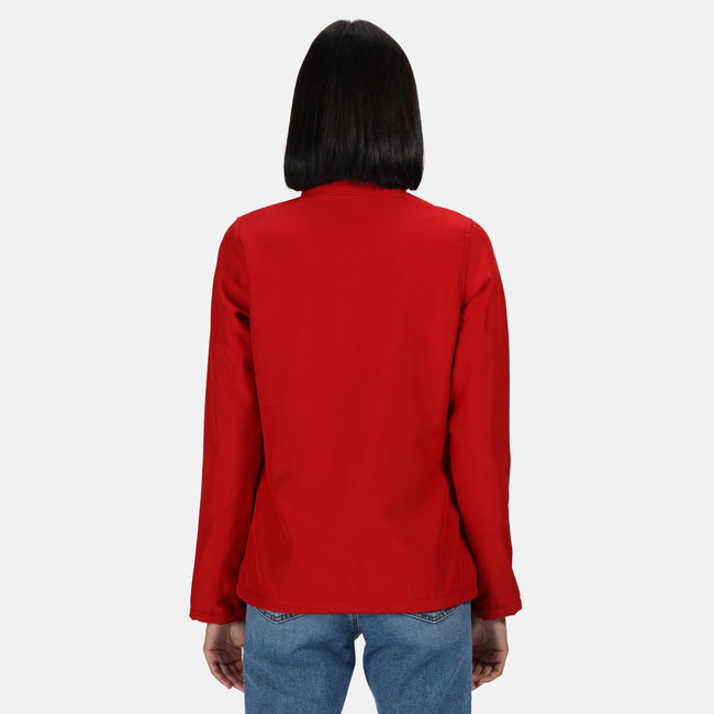 Navy-Navy - Front - Regatta Womens-Ladies Ablaze Printable Softshell Jacket