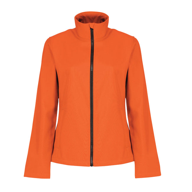 Hot Pink-Black - Front - Regatta Womens-Ladies Ablaze Printable Softshell Jacket