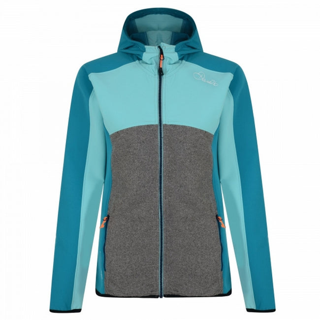 Turquoise Blue-Light Green - Front - Dare2B Womens-Ladies Demure Softshell Jacket