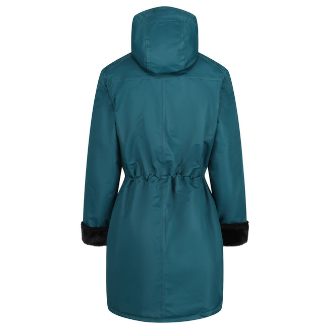 Deep Teal - Back - Regatta Womens-Ladies Romina Full Length Hooded Jacket