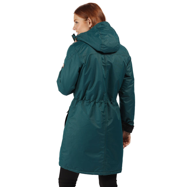 Deep Teal - Lifestyle - Regatta Womens-Ladies Romina Full Length Hooded Jacket
