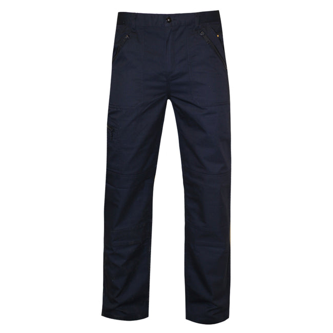 Gray Blue - Front - Regatta Mens Pro Action Waterproof Trousers - Regular