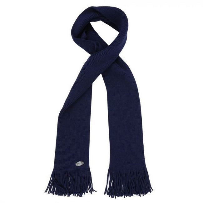 Navy - Front - Regatta Great Outdoors Mens Balton Acrylic Knit Scarf