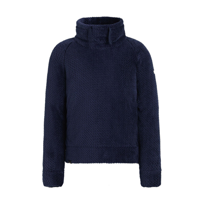 Navy - Front - Regatta Childrens-Kids Honora Zig Zag Fluffy Fleece Sweater