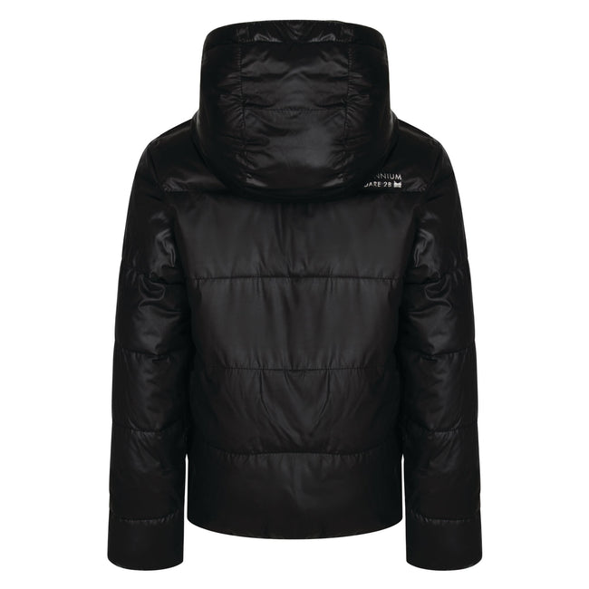 Black - Back - Dare 2b Childrens Girls Exoteric Jacket