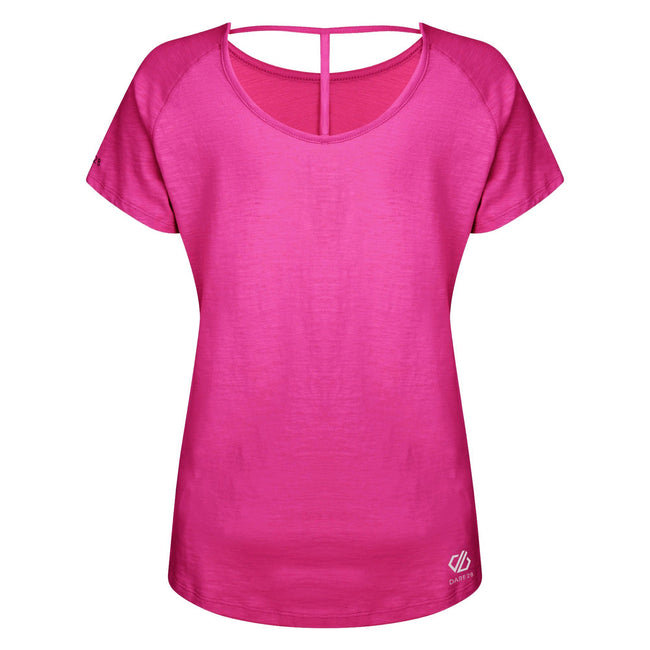 Cyber Pink - Back - Dare 2B Womens-Ladies Astral Forest Cutout Neck T-Shirt