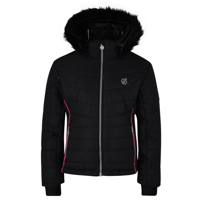 Black - Front - Dare 2B Girls Predate Ski Jacket