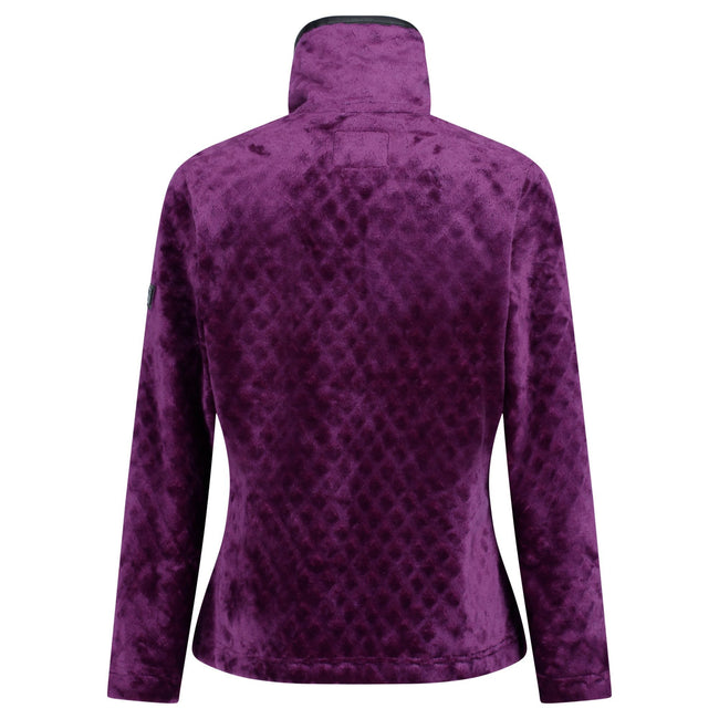 Prune - Back - Regatta Womens-Ladies Halona Velour Fleece