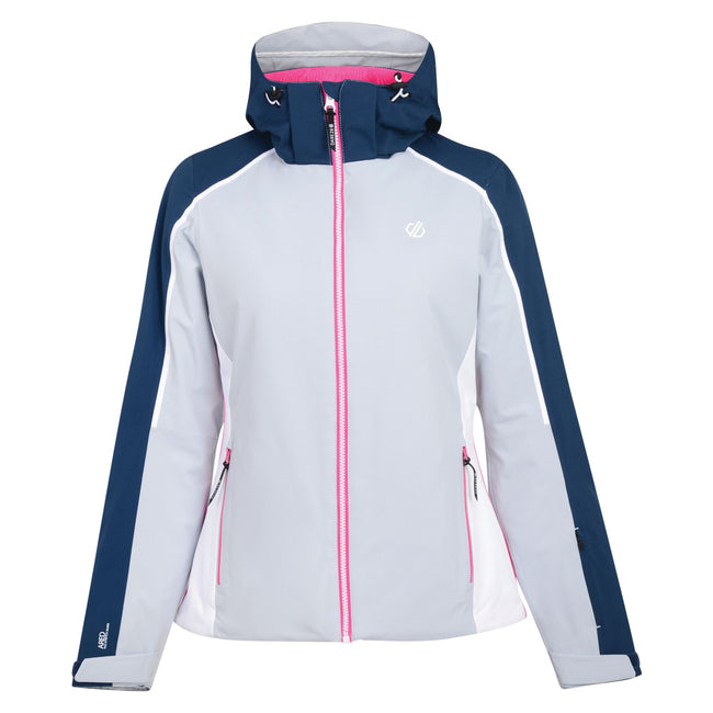 Argent Gray-Blue Wing - Front - Dare 2b Womens-Ladies Comity Ski Jacket