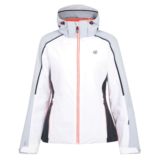 White-Argent Gray - Front - Dare 2b Womens-Ladies Comity Ski Jacket