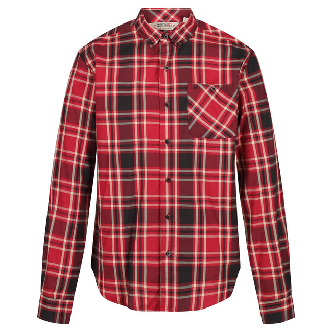 Bayleaf - Front - Regatta Great Outdoors Mens Lazare Long Sleeve Checked Shirt