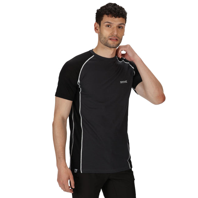 Ash - Back - Regatta Mens Tornell II Active T-Shirt