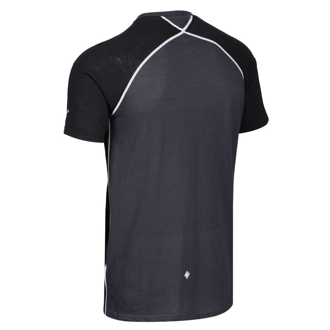 Ash - Close up - Regatta Mens Tornell II Active T-Shirt