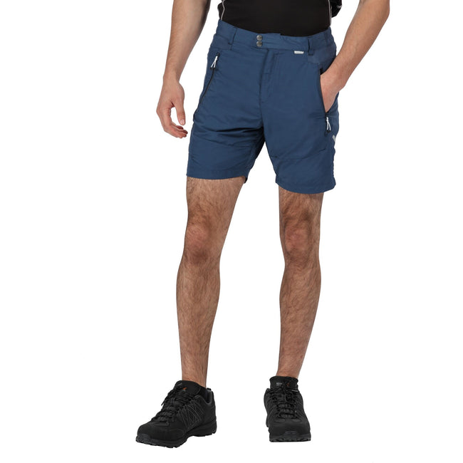 Dark Denim - Front - Regatta Mens Sungari II Walking Shorts