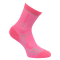 Raspberry Rose-Jem - Front - Regatta Great Outdoors Childrens-Kids 2 Season Coolmax Trek & Trail Socks