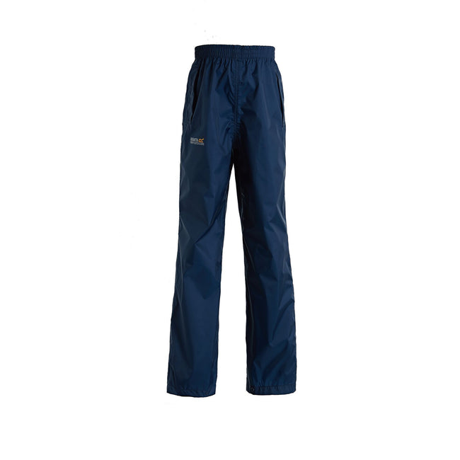Midnight - Front - Regatta Great Outdoors Kids Boys Adventure Tech Pack It Waterproof Overtrousers