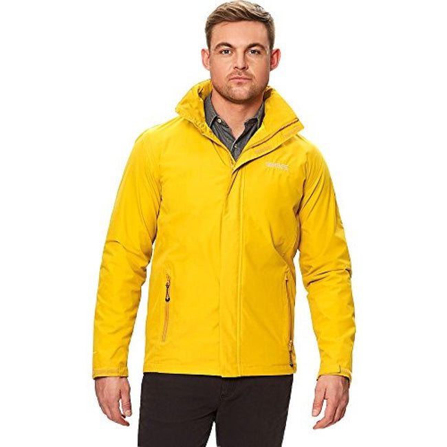 Mustard Seed - Front - Regatta Great Outdoors Mens Outdoor Classic Matt Hooded Waterproof Jacket