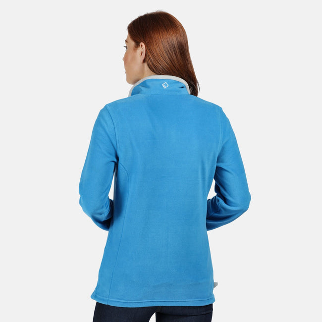 Azure Blue - Front - Regatta Great Outdoors Womens-Ladies Adventure Tech Clemance II Fleece Top