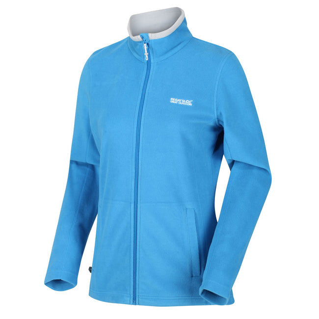 Blue Aster - Side - Regatta Great Outdoors Womens-Ladies Adventure Tech Clemance II Fleece Top