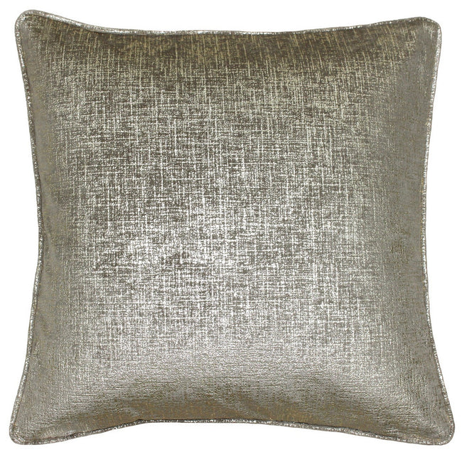 Taupe-Gold - Front - Riva Home Venus Square Cushion Cover