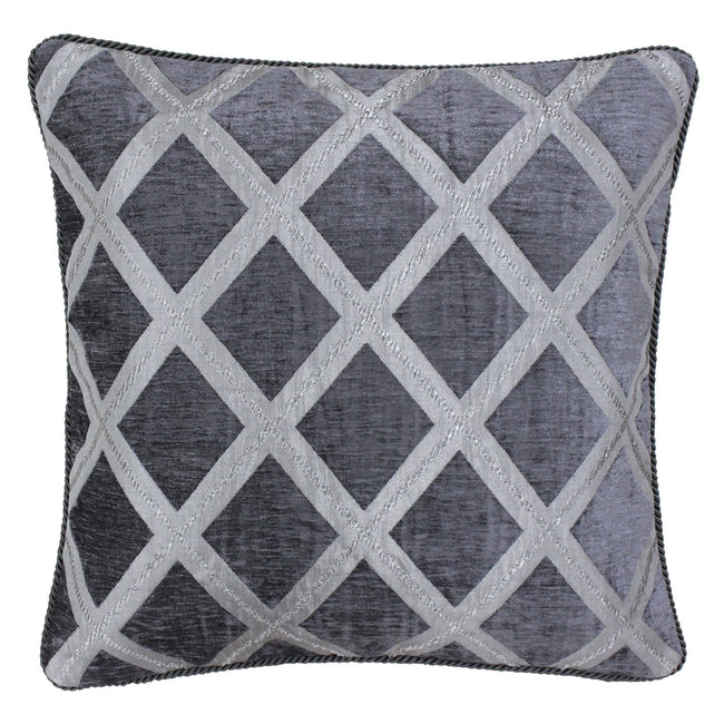 Graphite - Front - Riva Paoletti Hermes Cushion Cover