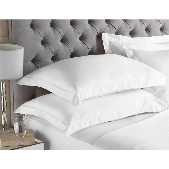 White - Front - Riva Paoletti Egyptian Quality Cotton Oxford Pillowcase