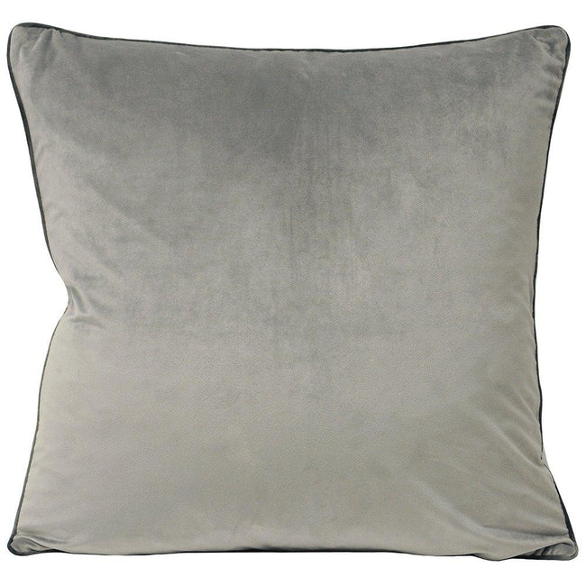 Dove-Charcoal - Front - Riva Paoletti Meridian Cushion Cover