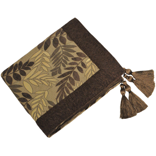 Mocha - Front - Riva Home Fern Throw