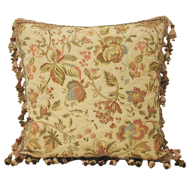 Fringed Cream - Front - Riva Home Florence Cushion Cover